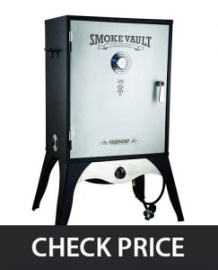 Camp Chef Smoker – Protected burner drum for maximum heat control