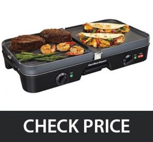 Hamilton Beach – Electric Smokeless Indoor Grill & Griddle Combo
