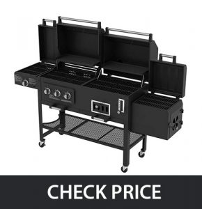 Smoke Hollow 8500 – Lp GasCharcoal Grill with Firebox