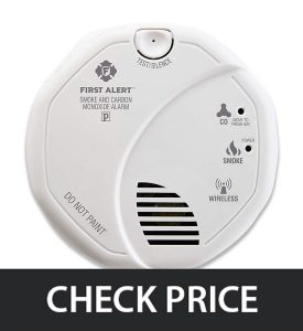 First Alert 2-in-1 Wireless Z-Wave Smoke & Carbon Monoxide Alarm